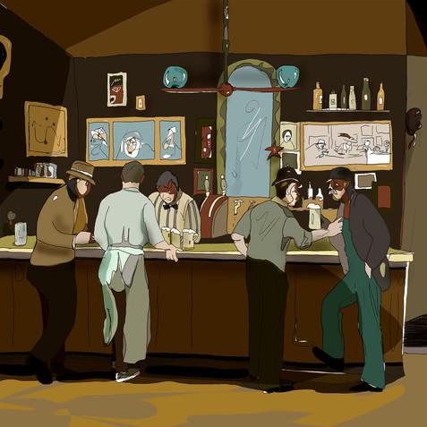 """""""100 anni dopo un pad è sempre il pub"""" - dal mio progetto-calendario """"Interpretazioni2"""" (2021)"""