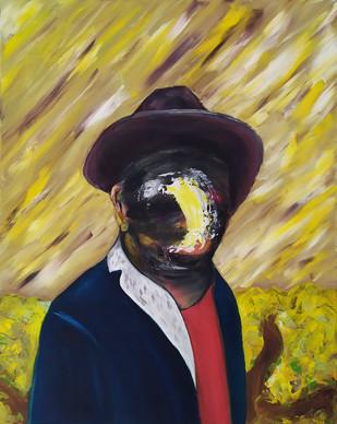 Myself as Van Gogh - oil on canvas - 50x60cm - 2017