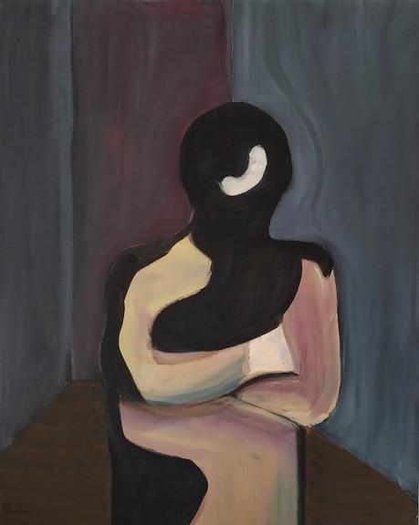 Study for a portrait - C.Burden  - oil on canvas - 50x60cm - 2017