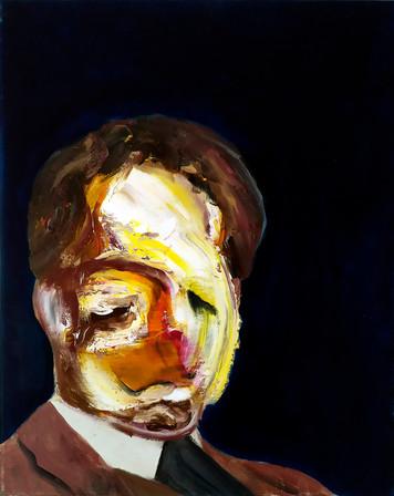 Myself as Calvino - oil on canvas - 50x60cm - 2017