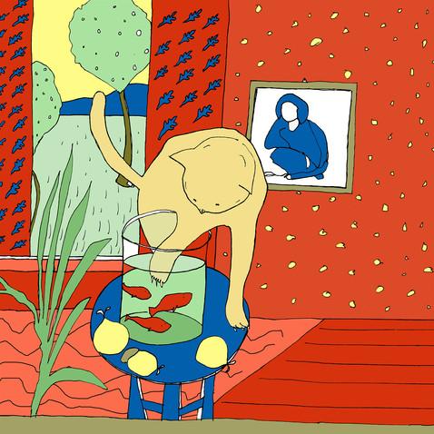 """The cat house"" - an illustration of my project ""Interpretazioni"""