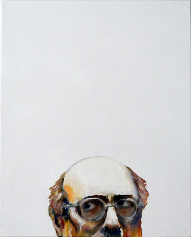 Study for a portrait - Mark R. - oil on canvas 40x50cm, 2017