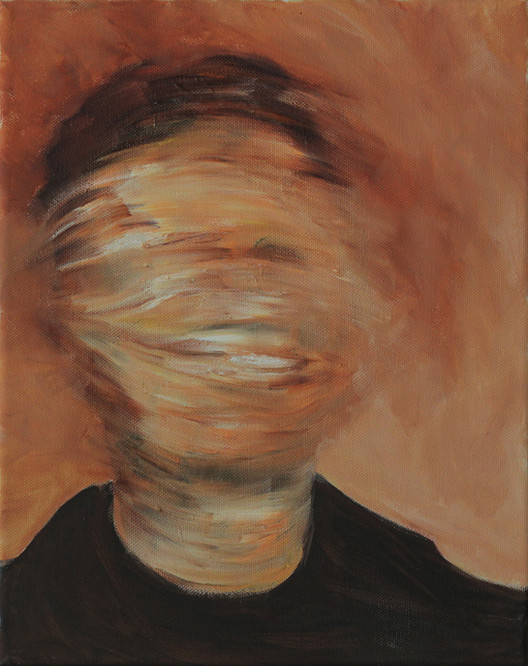 self-portrait as a sunny smile oil on canvas 28x35cm 2015