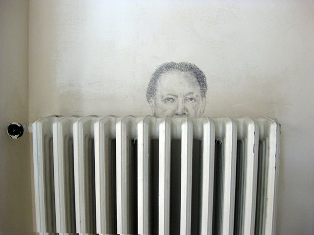 Diego R. - pencil on wall - (old studio) - 2016