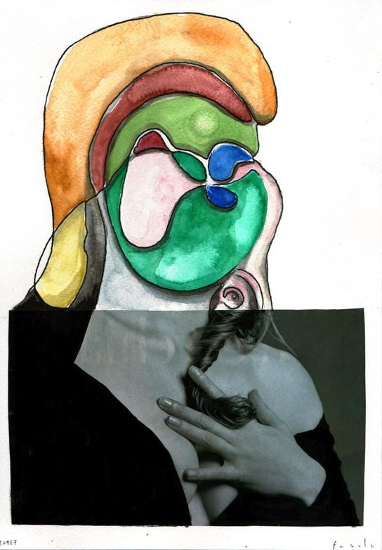 """""""natività"""" collage on paper 2017"""