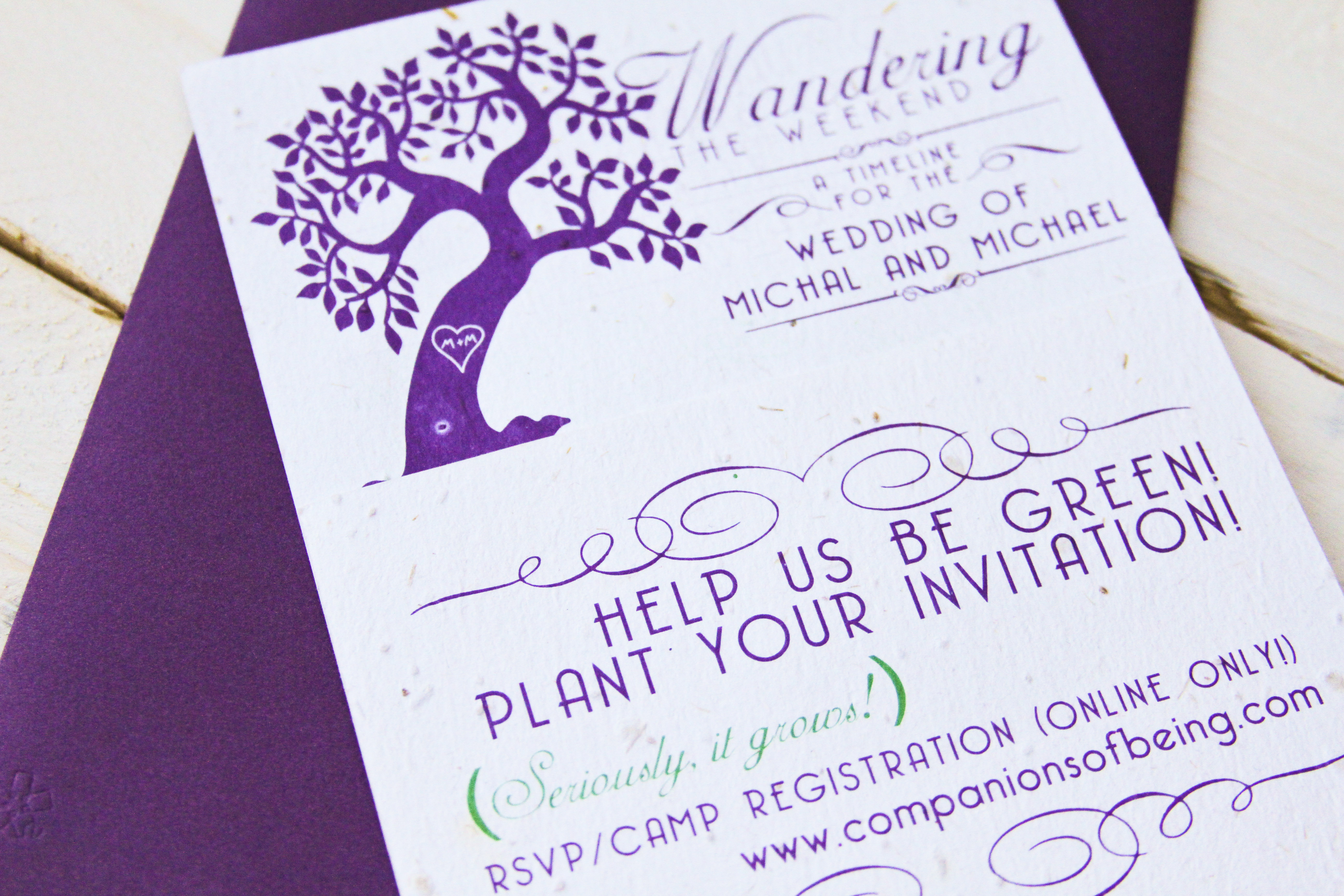 Seed Paper Invitation