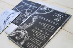 Silver and Black Invitation