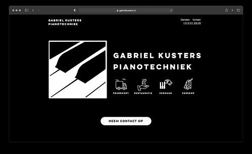 Nieuwe website van Gabriël Kusters ontworpen door Bo Kusters