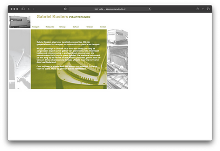 Oude website