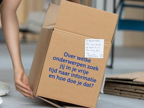 Dit was een prop voor het onderzoek wat we deden op de Haagse Hogeschool, hier plakte studenten hun antwoorden op.