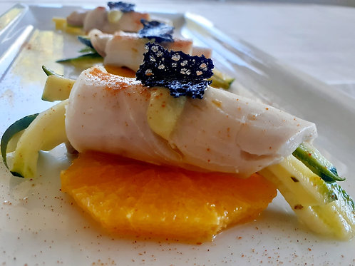 Rolle' di Pesce Spada al Mascarpone e Zucchina marinata