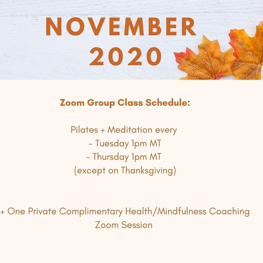 November 2020 Mindfulness Challenge