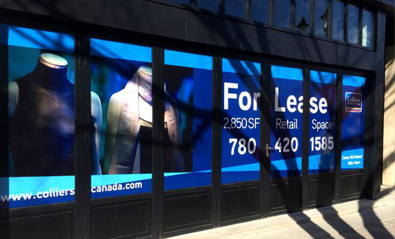 For Lease Window Decals
