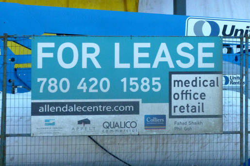 For Lease Sign for Allendale Centre