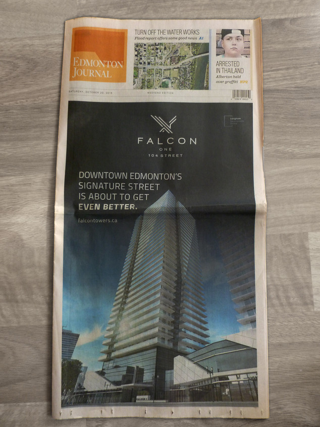 Front Page, Edmonton Journal