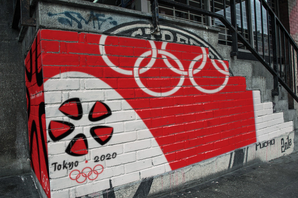 Tokyo Olympic Street Art