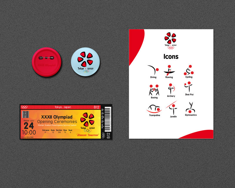 Tokyo Olympic Sport Icons and Entrance Tickets