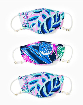 KIDS FACE MASK, CHILLY LILLY 3-PACK