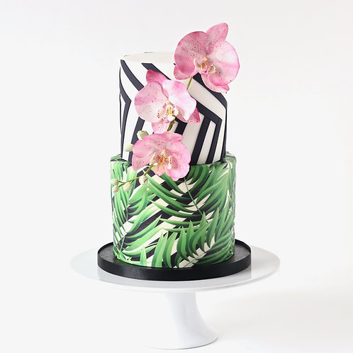 Bold Cakes – Moth Orchids,Geometric Stripes & Edible Prints
