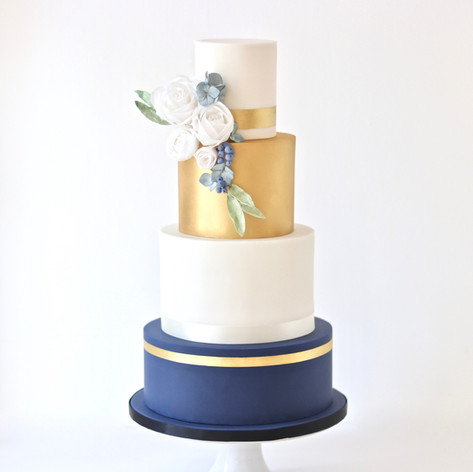 4-Tier Painted Fondant Finish