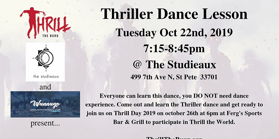 Thriller Dance Lesson w/ Thrill the Burg - $5 Tuesday!
