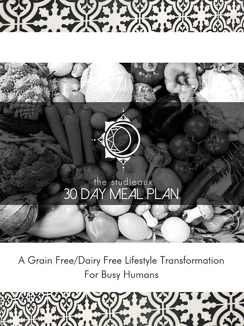 The Studieaux 30 Day Meal Plan