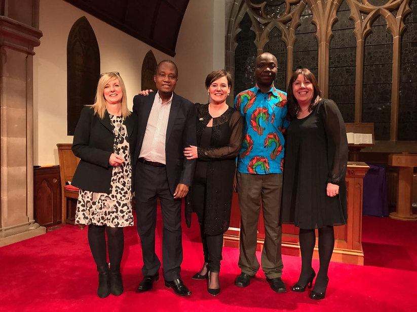 Alloway Church Schools Partnership Ernest Chirwa, Francis Juma, Caroline Connell Karen Butler and Julie Griffiths