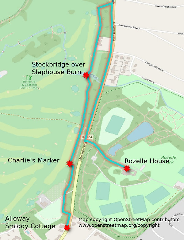 Auld Nick's View of Alloway Robert Burns Rozelle Map