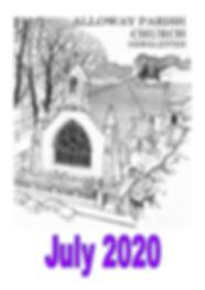 July 2020 Newsletter Cover Alloway Churc