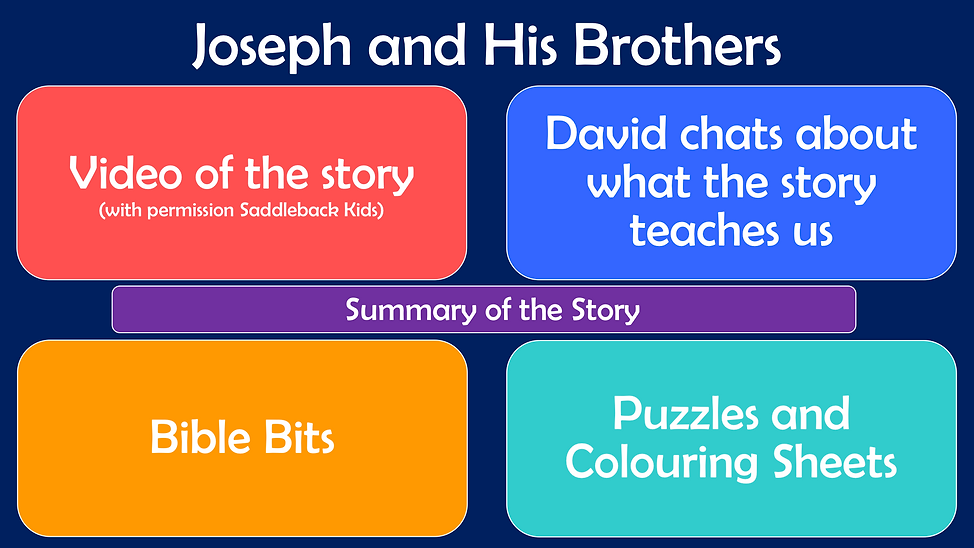 Youth Web Page Layout - Joseph and His B