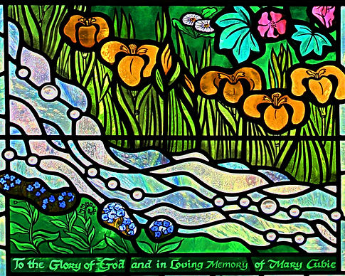 River of Life and wild flowers.JPG