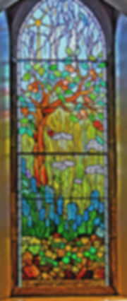 Four Seasons Alloway Parish Church Stained Glass Genesis Summer Winter Spring Autumna Seedtime Harvest