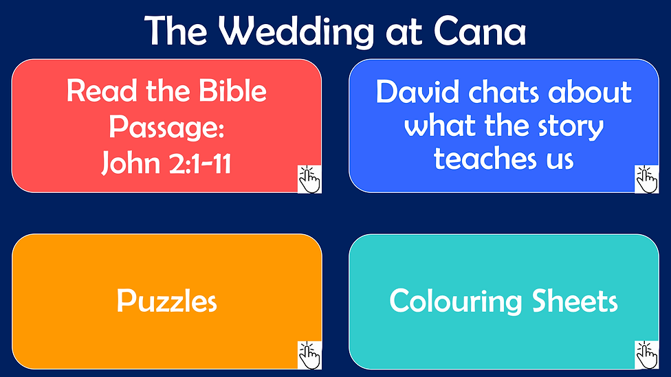 Youth Web Page Layout - Wedding at Cana.