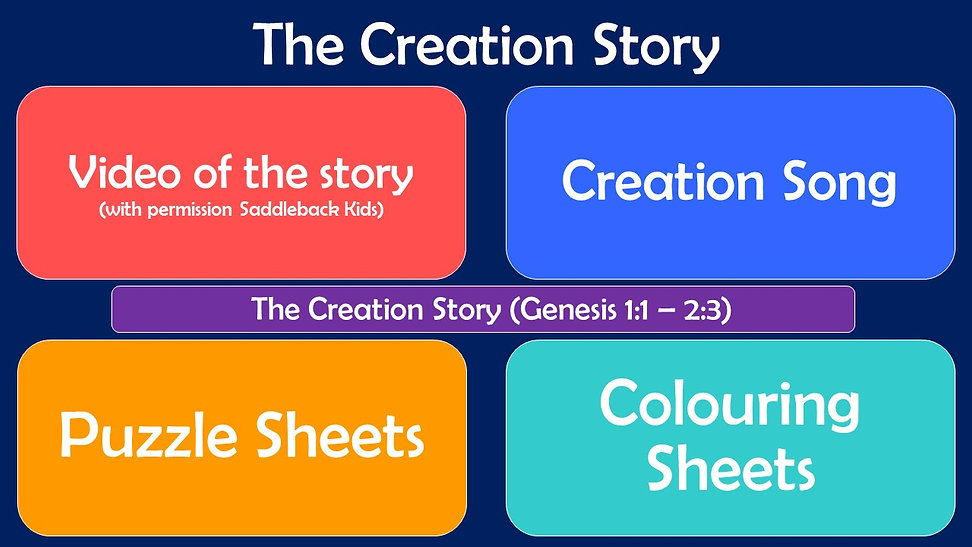Youth Web Page Layout - The Creation Sto