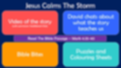 Youth Web Page Layout - Jesus Calms The