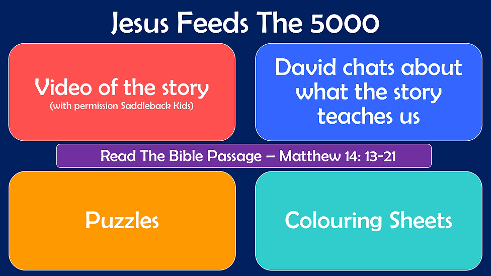 Youth Web Page Layout - Jesus Feeds The