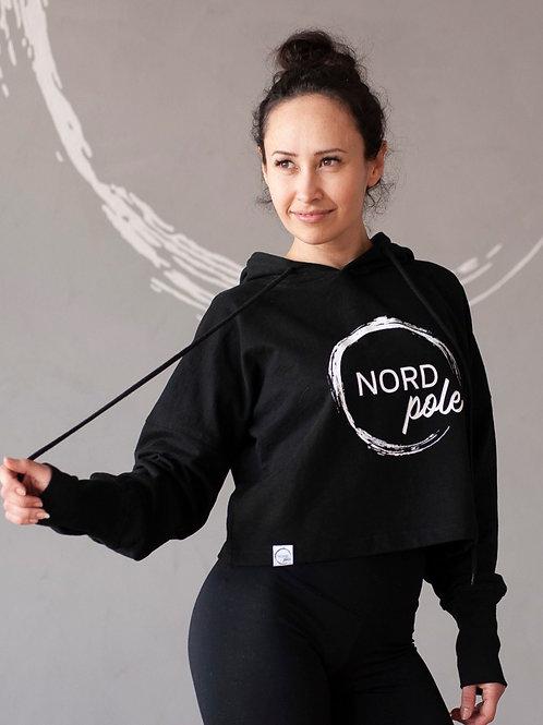 NORDpole - Crop Hoodie - Black