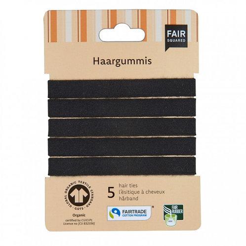 FAIR SQUARED - Haargummis - Hairband 5-er-Set - schwarz