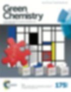 Green Chemistry Journal cover design scietific illustration