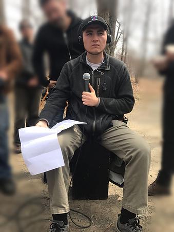Daniel Scarpati Working on Set as a PA