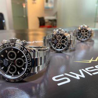 Triple Rolex Oystersteel Black Dial Cosmograph Daytona – 116500LN