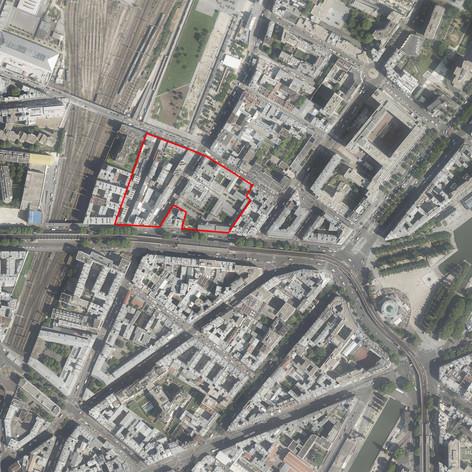 Étude urbaine - Passage Goix, Ilot Caillé, Paris (75019) - 2010