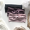 black, mauve and blush headbands with feather and knit