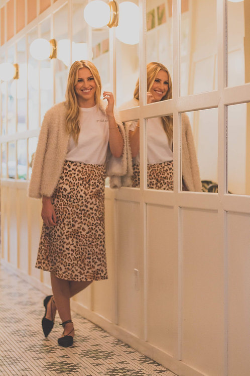 Leopard print ladies skirt Ang Hill