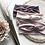 mauve, ivory and blush headbands with floral stems