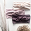ivory, blush and mauve headbands with floral stems