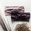 mauve and blush headbands with floral stems