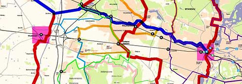 Cycle path network AG West