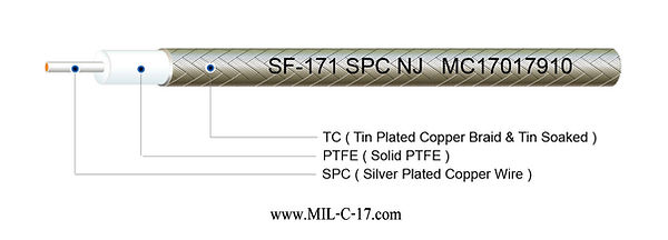 Low PIM SF-171 SPC NJ Semi-Flexible ( Hand-Formable ) Coaxial Cable without Jacket, SF171 SPC NJ