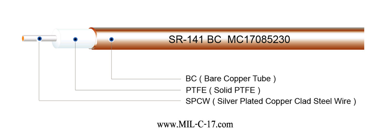 SR-141 BC Semi-Rigid Coaxial Cable